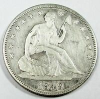 1849 UNITED STATES SEATED LIBERTY HALF DOLLAR   XF EXTRA FINE CONDITION