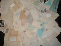 1818 INTO 1900'S HUGE 100 LETTERS,COVERS,DOCUMENT'S,STAMPLESS,LETTERS LOT