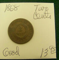 1868 TWO CENT PIECE -  GOOD