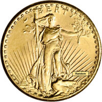 US GOLD $20 SAINT GAUDENS DOUBLE EAGLE   ALMOST UNCIRCULATED   RANDOM DATE