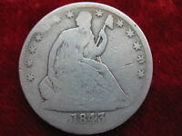 1843 O SEATED LIBERTY SILVER HALF DOLLAR NICE ORIGINAL COIN TOUGH EARLY DATE