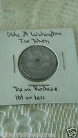 1935 STATE OF WASHINGTON TAX COMMISSION 10 CENTS TAX ON PURCHASE TOKEN/COIN