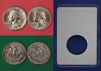 1984 D P WASHINGTON QUARTERS WITH DIY SLABS FROM MINT SETS FLAT RATE SHIPPING