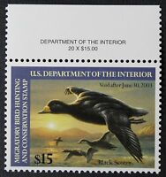 CKSTAMPS: US FEDERAL DUCK STAMPS COLLECTION SCOTTRW69 $15 MINT NH OG PERF FOLD