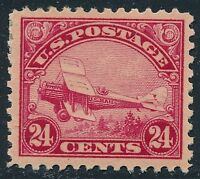 DR JIM STAMPS OLD US AIR MAIL SCOTT C3 24C CURTISS JENNY UNUSED OG HINGED