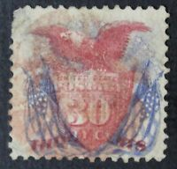 CKSTAMPS: US STAMPS COLLECTION SCOTT121 30C PICTORIAL USED THIN CV$450