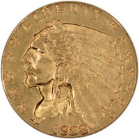 US GOLD $2.50 INDIAN HEAD QUARTER EAGLE   ALMOST UNCIRCULATED   RANDOM DATE