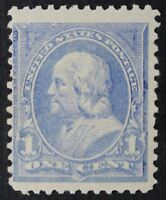 CKSTAMPS:US STAMPS COLLECTION SCOTT246 1C FRANKLIN MINT H OG LIGHTLY GUM CREASE