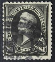 CKSTAMPS: US STAMPS COLLECTION SCOTT261A $1 PERRY USED THIN CV$825