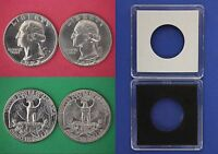 1972 D P WASHINGTON QUARTERS WITH 2X2 CASES FROM MINT SETS FLAT RATE SHIPPING