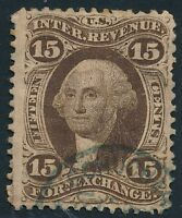 DR JIM STAMPS OLD US REVENUE SCOTT R39 15C FOREIGN EXCHANGE USED NO RESERVE