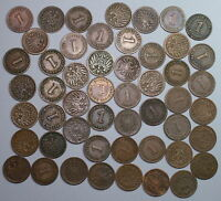 1800S 1900S GERMANY 1 PFENNIG KAISER REICH LOT OF 100 COINS 17022401R