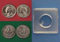 1980 D P WASHINGTON QUARTERS WITH 2X2 SNAPS FROM MINT SETS FLAT RATE SHIPPING