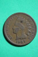 1907 INDIAN HEAD CENT PENNY EXACT COIN PICTURED FLAT RATE SHIPPING 1351