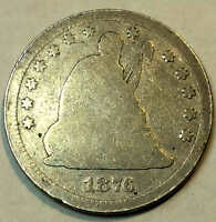 1876 CC SEATED QUARTER BETTER DATE