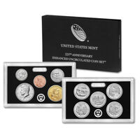 2017 S US MINT 225TH ANNIVERSARY ENHANCED UNCIRCULATED COIN SET  17XC
