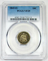 1842-O PCGS VF 25 UNITED STATES SEATED LIBERTY DIME