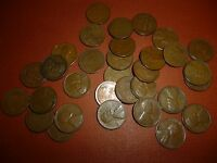 LOT OF 32 LINCOLN CENTS - ALL DIFFERENT - 1940 TO 58 - 3