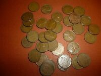 LOT OF 34 LINCOLN CENTS - ALL DIFFERENT - 1940 TO 58 - 2