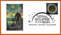OREGON BIGFOOT. TOTAL ECLIPSE OF THE SUN.  POSTAL EVENT COVER AND STAMP FDC