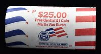2008-P MARTIN VAN BUREN PRESIDENTIAL DOLLARS - $25 MINT WRAPPED ROLL