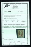 CKSTAMPS: US STAMPS COLLECTION SCOTT3 5C FRANKLIN UNUSED LH NGAI WITH CERT $850