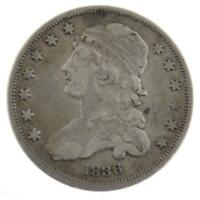 1836 CAPPED BUST SILVER QUARTER DOLLAR 25C A 087