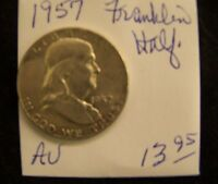 1957 FRANKLIN HALF DOLLAR   ABOUT UNCIRCULATED