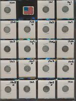 BARBER SILVER DIMES.COLLECTION - 1900-1916 -  33 DIFFERENT DATES