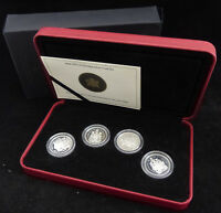2004 CANADA 50 CENTS DOLLARS STERLING SILVER SET OF 4 COINS