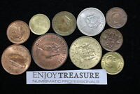 WORLD COINS USEFULL LOT LACQUERED FOR PRESERVATION A72 ZA5