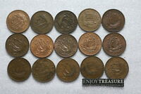 UK GB HALF PENNY'S COLLECTION ALL DIFFERENT A72 S28