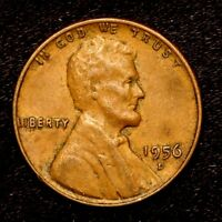 1956 D    BETTER GRADE    COPPER LINCOLN WHEAT CENT PENNY OLD US COIN  H88
