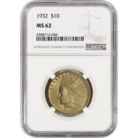 US GOLD $10 INDIAN HEAD EAGLE   NGC MS62   RANDOM DATE