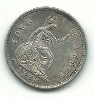 A HIGH GRADE AU 1836 GREAT BRITAIN SILVER GROAT FOUR PENCE J