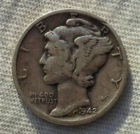1942 D 10C MERCURY DIME SAVE ON COMBINED SHIPPING