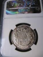 1939   NGC GRADED CANADIAN FIFTY CENT   MS 64