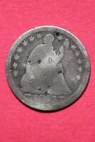 CULL 1853 P SEATED LIBERTY HALF DIME EXACT COIN SHOWN FLAT RATE SHIPPING OCE 191