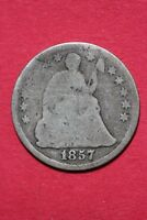 CULL 1857 P SEATED LIBERTY HALF DIME EXACT COIN SHOWN FLAT RATE SHIPPING OCE 196