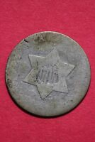 LOW GRADE NO DATE SEATED LIBERTY TRIME 3 CENT SILVER FLAT RATE SHIPPING OCE 008