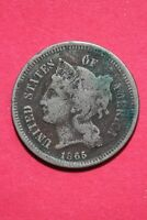 LOW GRADE 1866 THREE 3 CENT LIBERTY NICKEL EXACT COIN FLAT RATE SHIPPING OCE 325