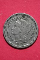 LOW GRADE 1865 THREE 3 CENT LIBERTY NICKEL EXACT COIN FLAT RATE SHIPPING OCE 313