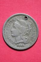 LOW GRADE 1865 THREE 3 CENT LIBERTY NICKEL EXACT COIN FLAT RATE SHIPPING OCE 306