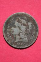 LOW GRADE 1865 THREE 3 CENT LIBERTY NICKEL EXACT COIN FLAT RATE SHIPPING OCE 340