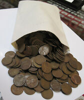 500 COUNT CANVAS BAG OF 1940'S AND 1950'S WHEAT PENNIES
