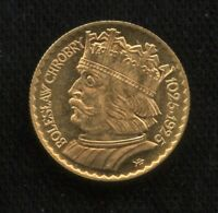 1925 POLAND 10 ZLOTYCH GOLD COIN   UNCIRCULATED   BOLESLAW