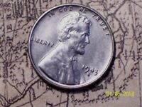 1943-S  @  STEEL LINCOLN WHEAT CENT FROM OLD ROLL