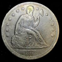 1871 SEATED LIBERTY DOLLAR, CLASSIC TYPE COIN A-250