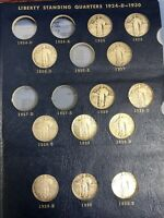 PARTIAL SET OF 12 DIFFERENT STANDING LIBERTY QUARTERS 1925 - 1930 GOOD TO AU