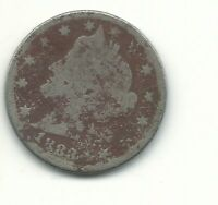 A VINTAGE 1883 WITH CENTS LIBERTY HEAD V NICKEL COIN-FEB575